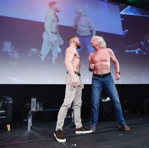 McGregor in epic shirtless face-off with Branson