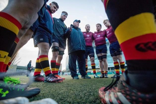 Lansdowne in the team huddle