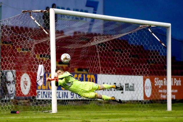 Shaun Patton makes a save