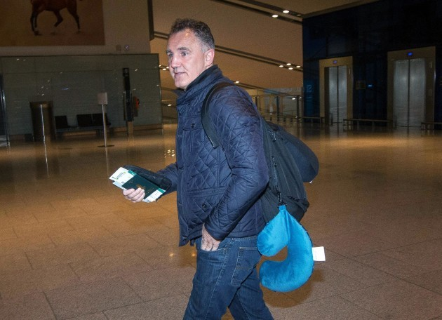 Billy Walsh makes his way through the departures of Dublin Airport