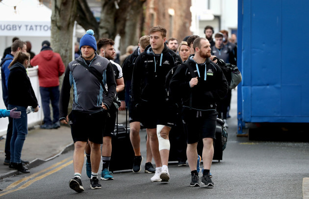 Glasgow Warriors arrive