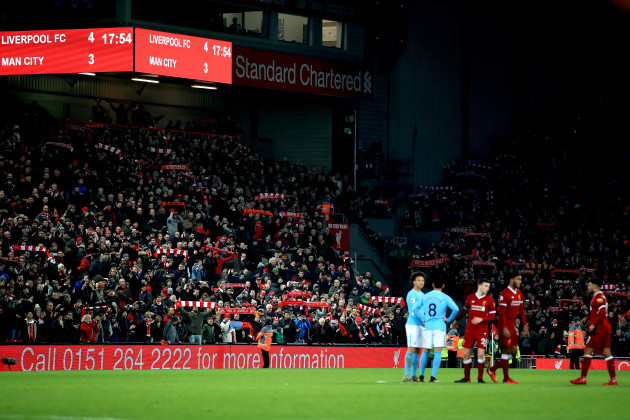 Liverpool v Manchester City - Premier League - Anfield