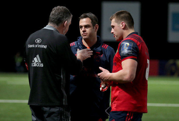 Johann van Graan and CJ Stander after the game