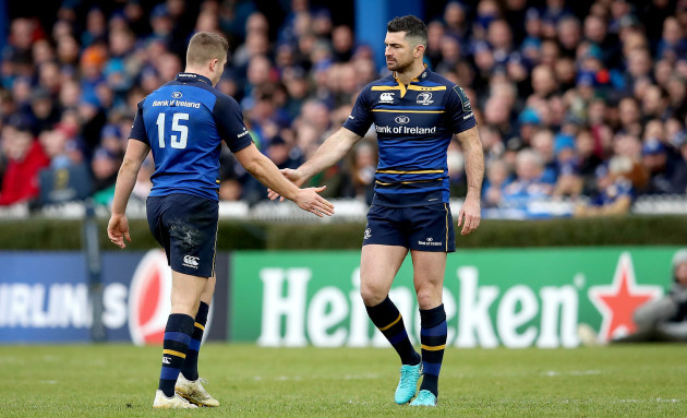 Jordan Larmour and Rob Kearney