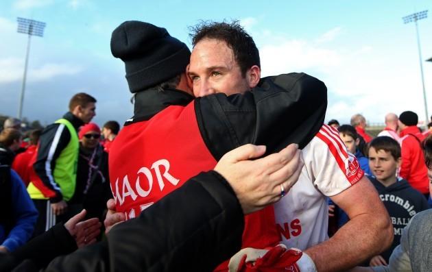 Alan Dillon celebrates