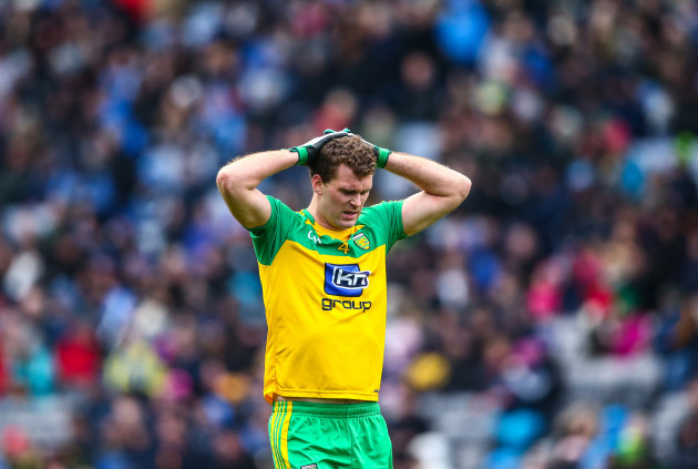 A dejected Eamon McGee