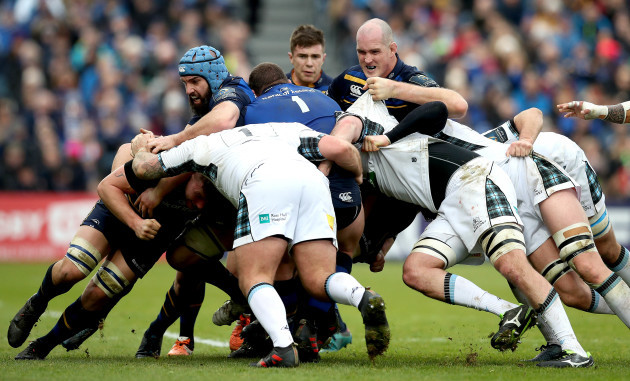 Scott Fardy and Devin Toner during a maul
