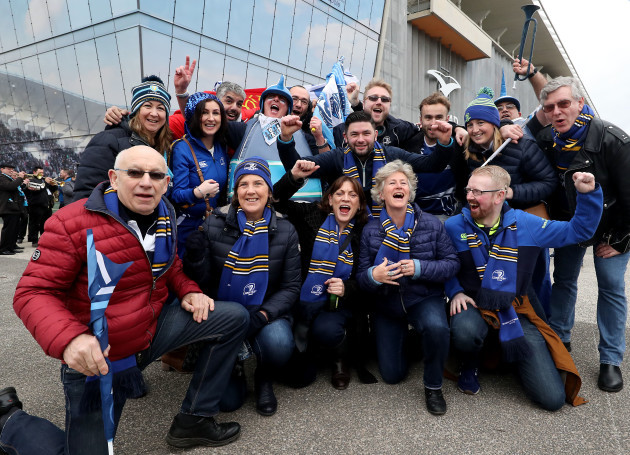 Leinster and Montpellier fans outside the Altrad Stadium
