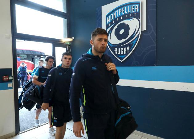 Ross Byrne and Luke McGrath arrive