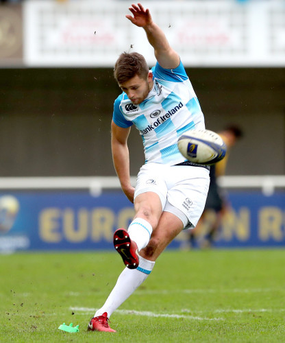 Ross Byrne kicks a penalty