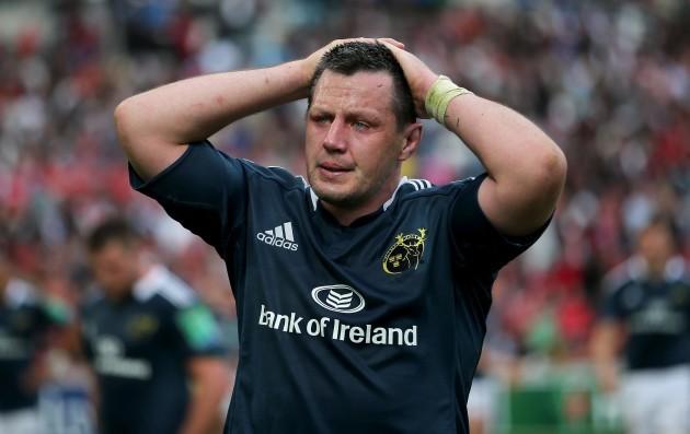 James Coughlan dejected