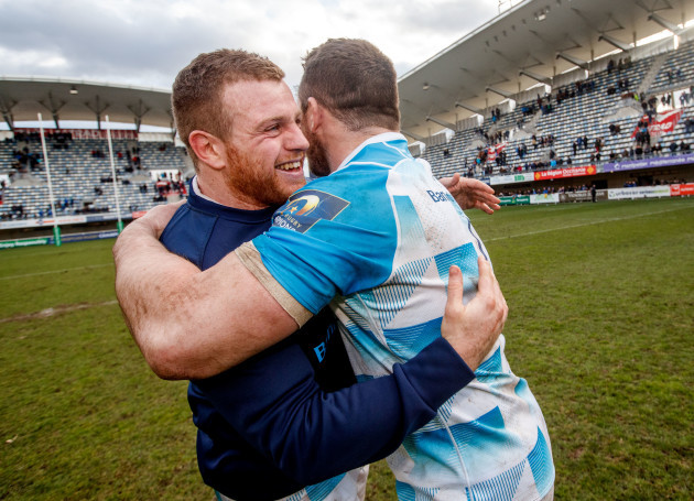 Sean Cronin and Cian Healy celebrate
