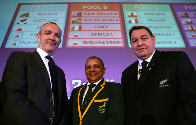 Conor O'Shea, Allister Coetzee and Steve Hansen