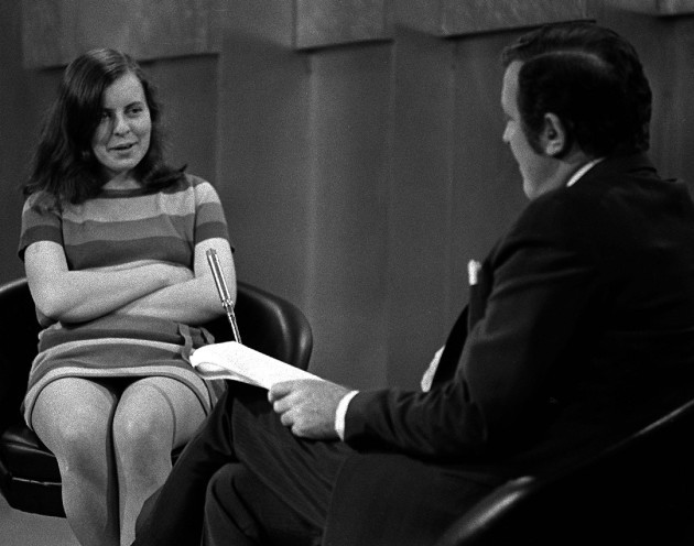 Eamonn Andrews and Bernadette Devlin.
