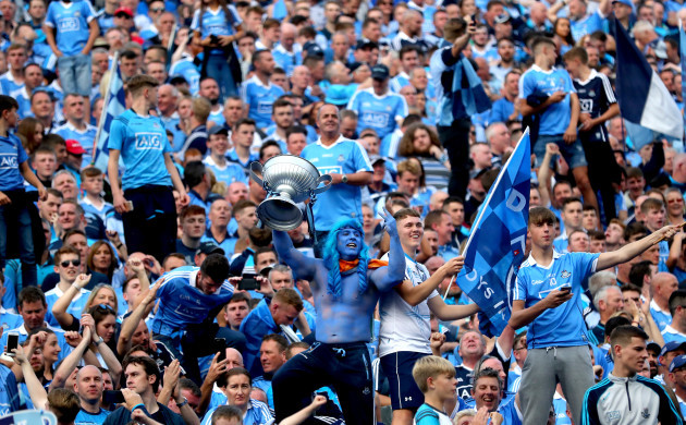 Dublin fans on Hill 16