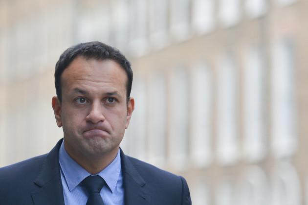 Taoiseach Leo Varadkar SIgns Book of COndolences for Liam Cosgrave