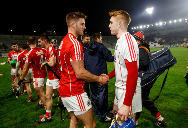 Eoin Cadogan celebrates with Patrick Collins