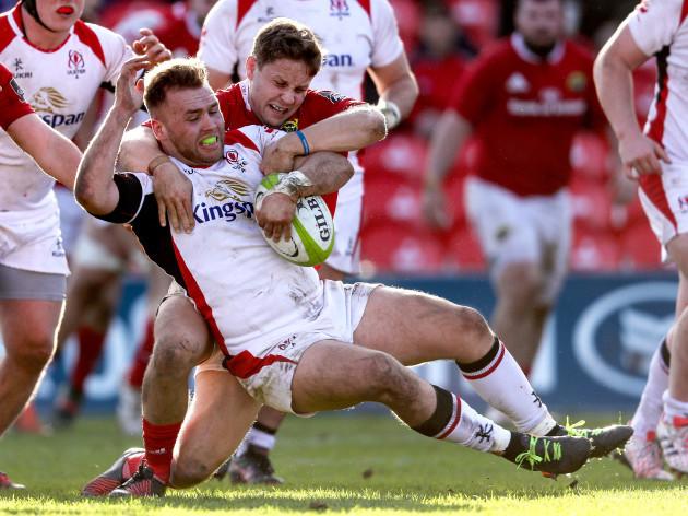 Dave Johnston tackles Mark Best