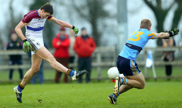 Gearoid Hegarty misses a late goal chance to win the game