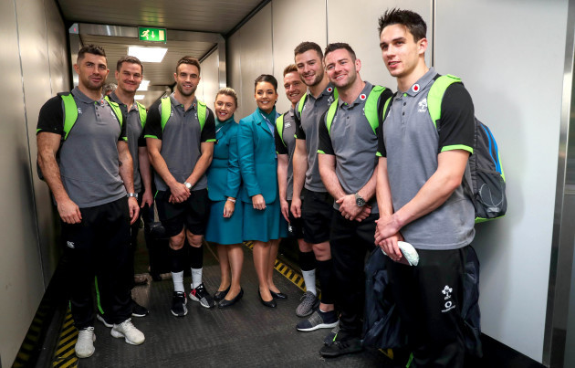 Ireland Rugby Team Depart for Paris