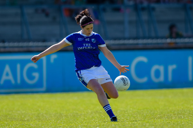 Aisling Doonan scores a point from a free