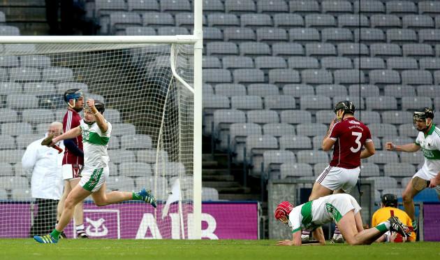 Ryan Walsh celebrates scoring his sides first goal