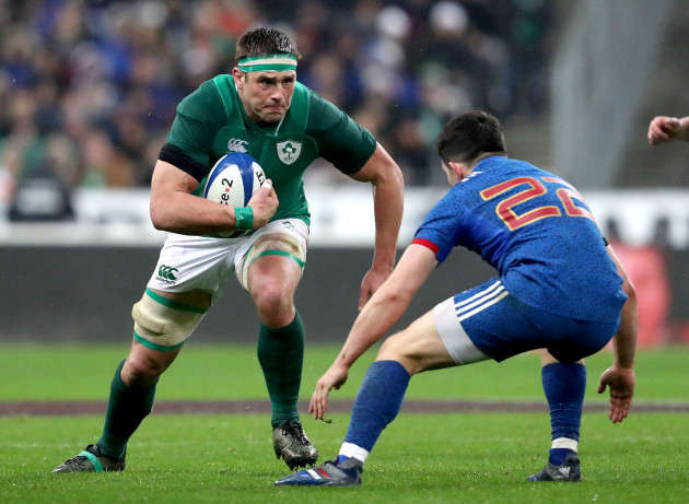 CJ Stander with Anthony Belleau