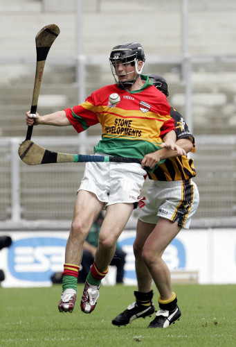 Padraig Amond of Carlow with Ger Fennelly of Kilkenny