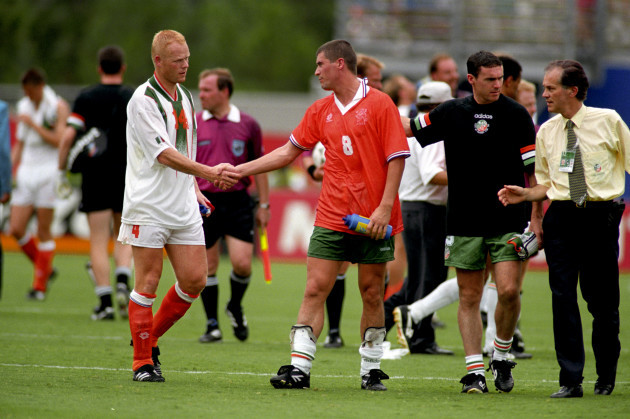 Soccer - World Cup USA 1994 - Second Round - Ireland v Holland - Citrus Bowl, Orlando