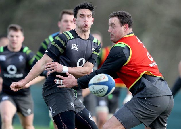 Joey Carbery and Rob Herring
