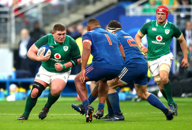 Tadhg Furlong runs at Jefferson Poirot of Guilhem Guirado