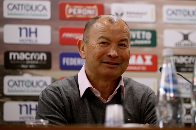 Eddie Jones during the post match press conference