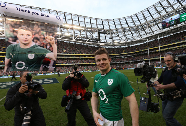 Ireland's Brian O'Driscoll  at the end of the match