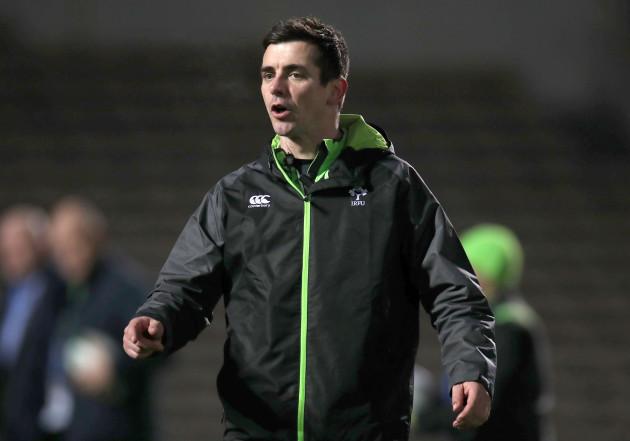 Noel McNamara before the game