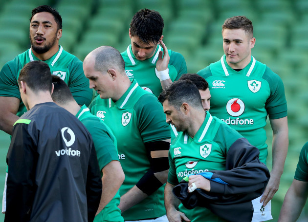 Bundee Aki, Joey Carbery, Jordan Larmour, Devin Toner and Rob Kearney