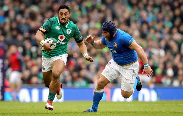 Bundee Aki with Luca Bigi