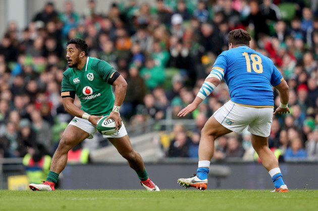 Bundee Aki with Tizano Pasquali