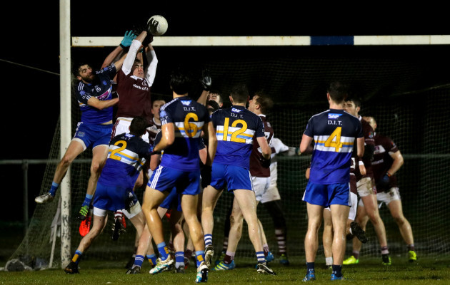 John Maher wins a late high ball at the end of the game