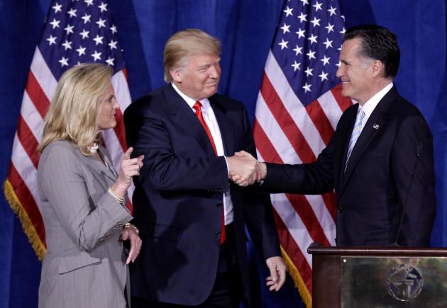 Romney Trump Rift