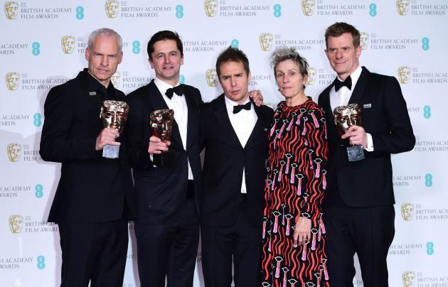 BAFTA Film Awards 2018 - Press Room - London