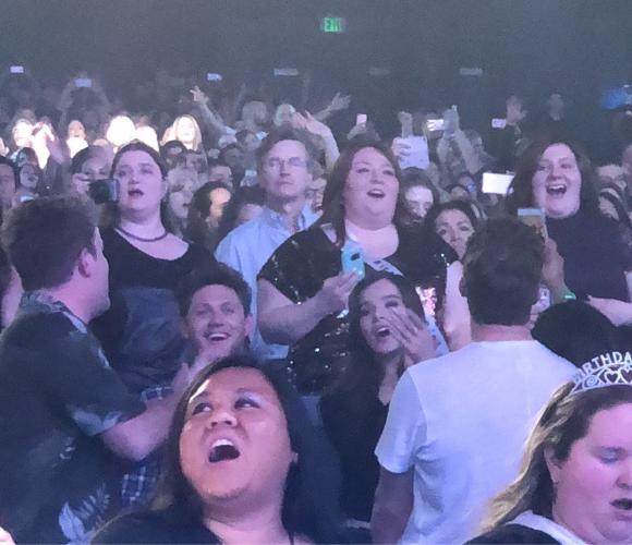 Image result for hailee steinfeld niall horan backstreet boys concert