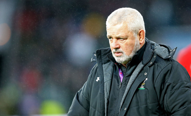 Warren Gatland before the game