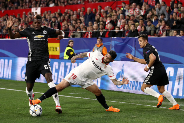 Sevilla FC v Manchester United - UEFA Champions League -  Round of 16 - First Leg - Ramon Sanchez Pizjuan Stadium