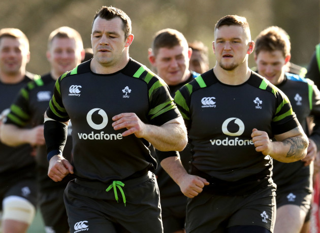 Cian Healy and Andrew Porter
