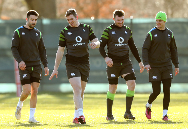 Conor Murray, Chris Farrell, Peter O'Mahony and Johnny Sexton