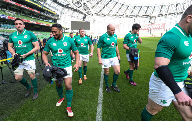 Jack Conan, Bundee Aki, Sean Cronin and Rory Best