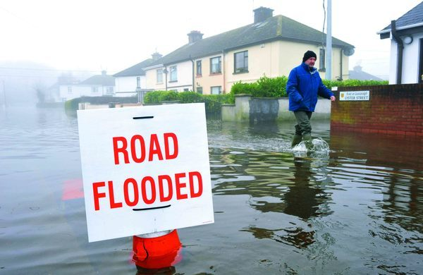 28/11/2009. Athlone Flood Scenes