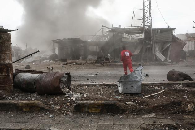Air strikes on rebel-held town in Syria