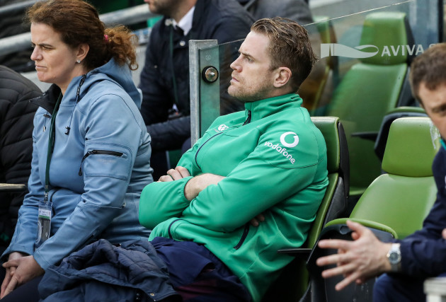 Jamie Heaslip who was a late withdrawl from the game