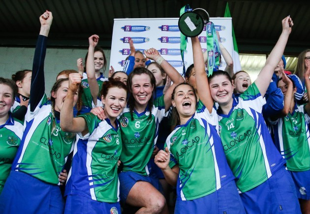 Johnstownbridge celebrates as Jenna Murphy lifts the trophy